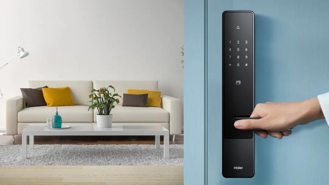 海尔智家双核时尚智能门锁E18:拥有智家互联,远程监控的功能